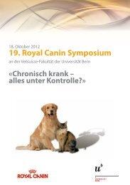 19. Royal Canin Symposium - Departement für klinische ...