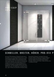 SCHNELLER, BREITER, HÖHER. PRO-VIII P