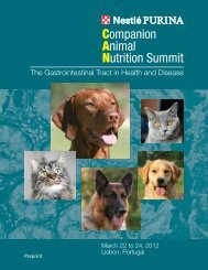Companion Animal Nutrition Summit - VeterinariosenWeb