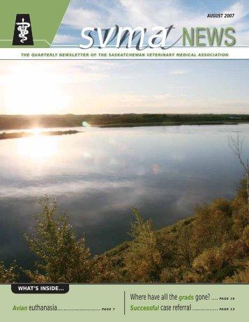 PAGE 16 - Saskatchewan Veterinary Medical Association