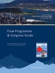 You can't miss it... - World Congress of Veterinary Dermatology 2012