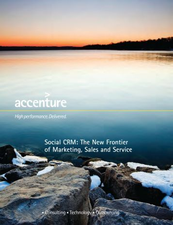 Social CRM: The New Frontier of Marketing Sales and Service