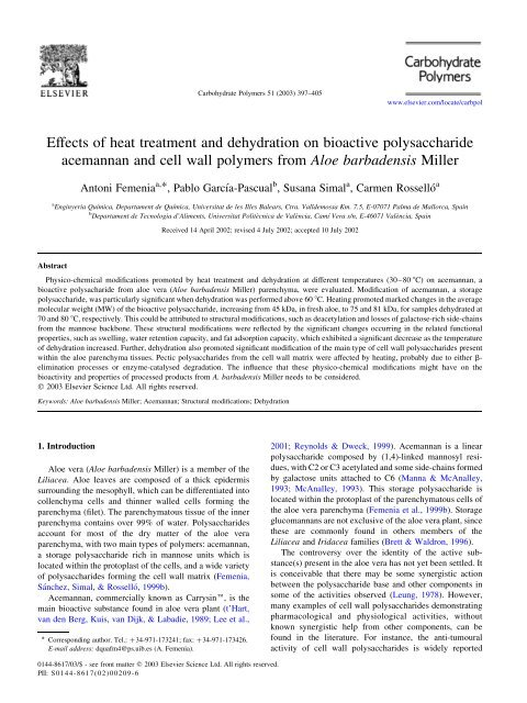 Effects of heat treatment and dehydration on bioactive
