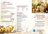 Geschenkideen zum Weihnachtsfest - Königliche Kristall-Therme ...