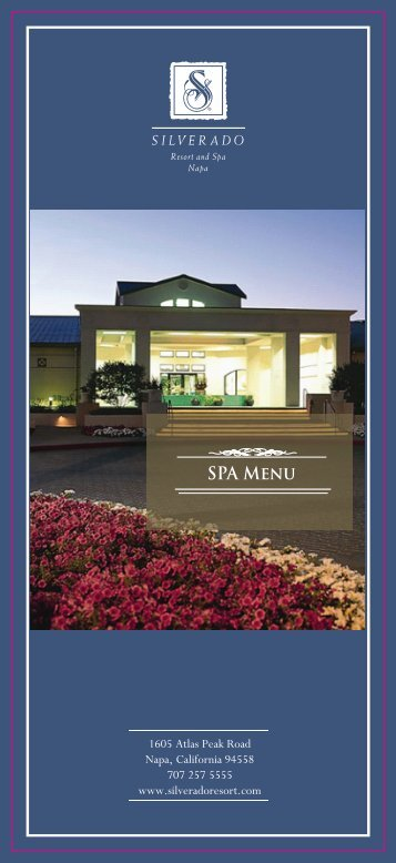download spa menu - Silverado Resort