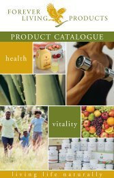 PRODUCT CATALOGUE health vitality - Forever Living