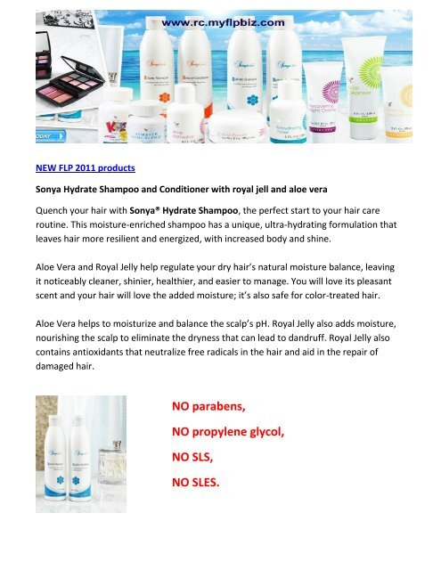 Sonya Hydrate Shampoo and Conditioner with royal jell