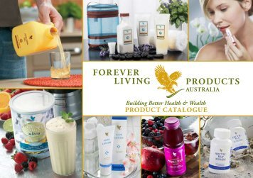 product catalogue forever living products