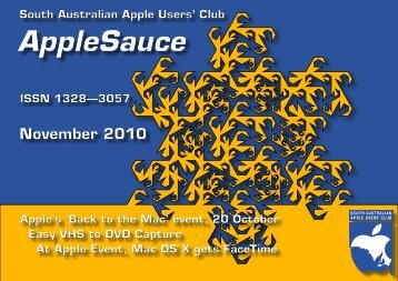 AppleSauce, November 2010 - South Australian Apple Users Club