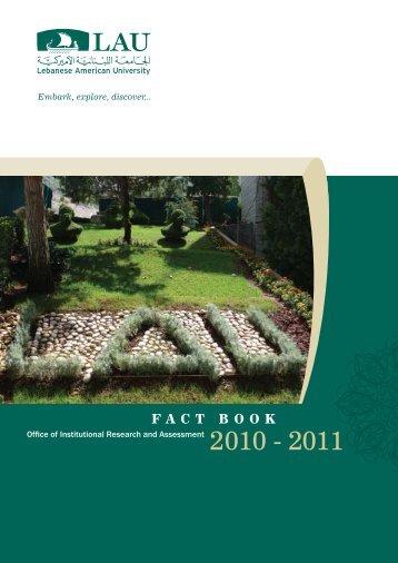 FACT BOOK - LAU Publications - Lebanese American University
