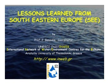 LESSONS LEARNED FROM SOUTH EASTERN EUROPE (SEE)
