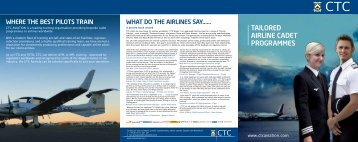 Tailored Airline Cadet Programmes brochure - CTC Wings