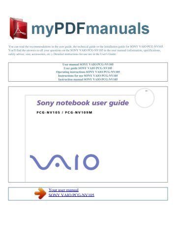 user manual sony vaio vpc eb4hgx bj my pdf manuals rh yumpu com sony vaio ultrabook user manual sony vaio operating manual