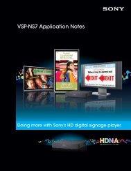 VSP-NS7 Application Notes - Sony