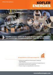 Flyer Energiemanagement nach DIN EN ISO 500 01 - Kofler Energies