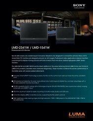 LMD-2341W / LMD-1541W - Sony
