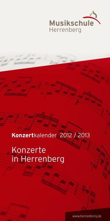 Konzertkalender - Musikschule Herrenberg