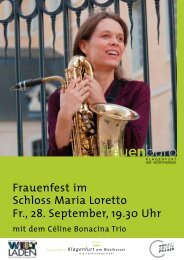 Frauenfest im Schloss Maria Loretto Fr., 28. September ... - Klagenfurt