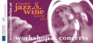Session mit Doris Ellen Bauer Band - Poysdorf Jazz & Wine Summer