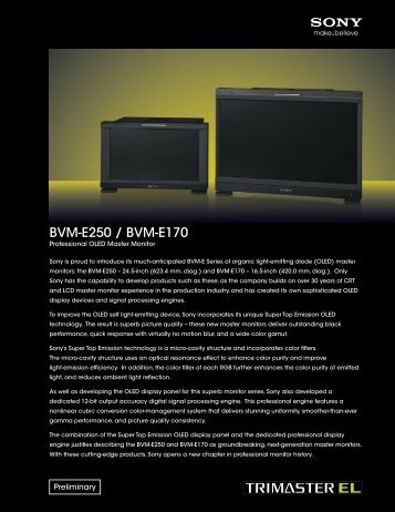 BVM-E250 / BVM-E170 - Dynamix