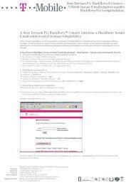 BlackBerry Instant E-mail telepítési és beállítási segédlet - T-Mobile