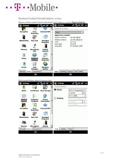 Nastavení Sony Ericsson XPERIA X1 - T-Mobile