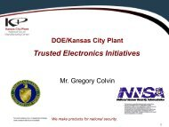 Trusted Electronics Initiatives