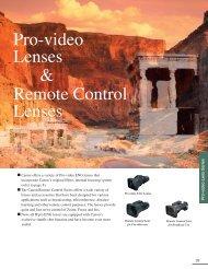Pro-video ENG Lenses - Canon USA, Inc.
