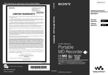 Portable MD Recorder - Sonic Studios