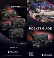 BCTV Pocket Guide for 2012 - Canon USA, Inc.