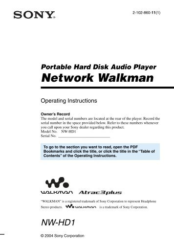 Network Walkman - How To & Troubleshooting - Sony