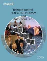 REMOTE CONTROL INTERFACE - Canon