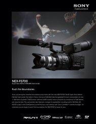 NEX-FS700 - Sony