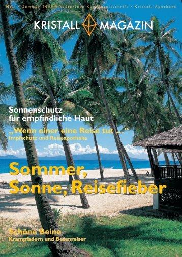 Sommer, Sonne, Reisefieber Sommer, Sonne ... - Kristall-Apotheke
