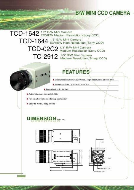 B/W MINI CCD CAMERA - products.isc365.com