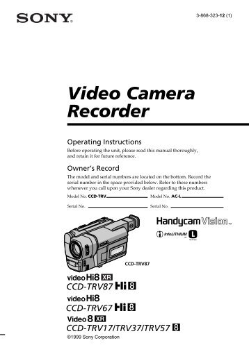 Video Camera Recorder - How To & Troubleshooting - Sony