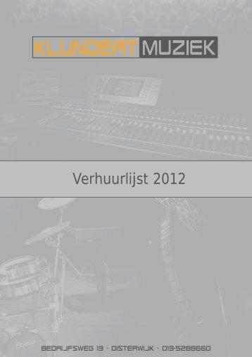 Verhuurlijst 2012 - Klundert Muziek