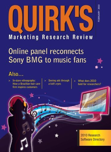 Online panel reconnects Sony BMG to music fans - Quirk's ...