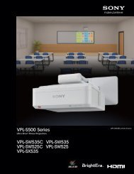 VPL-S500 Series - Sony