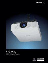 VPL-FX30 - Sony