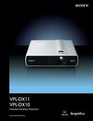 VPL-DX11 VPL-DX10 - Full Compass