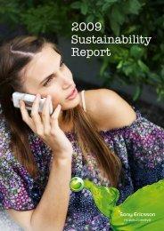 Sony Ericsson 2009 Sustainability Report