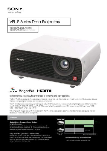VPL-E Series Data Projectors - AVI-SPL