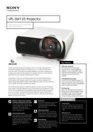 Sony VPL-SW125 Brochure