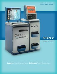 Inspire Your Customers. Enhance Your Business. - Sony