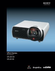 VPL-S Series - Sony