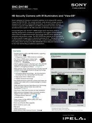 Sony SNC-DH180 Mini Dome Camera Datasheet - Use-IP