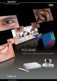 Sony PCS-XG80 HD-Videokonferenzsystem Informationsblatt