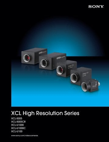 XCL High Resolution Series - Sony