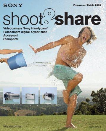 Videocamere Sony Handycam® Fotocamere digitali Cyber-shot ...